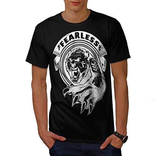 [Fearless Wild Animal Tiger Bear Men NEW S T-shirt | Wellcoda] (Bear Jew Costume)