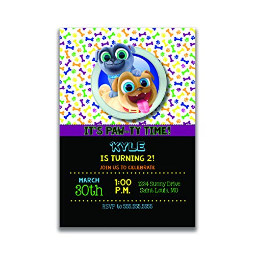 Custom Birthday Party Invitation - Puppy Dog Pals, Personalized (20 count) ()