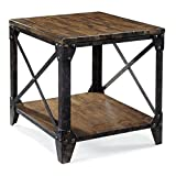 Cheap Magnussen T1755 Pinebrook Distressed Natural Pine Wood Rectangular End Table