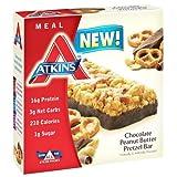 Atkins Advantage Bar - Chocolate Peanut Butter Pretzel - 5 count - High Protein - Low Calorie - Low Sugar - 1.7 oz (Pack of 3)