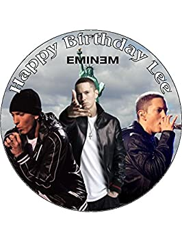 Tremendous 7 5 Eminem Theme Edible Icing Birthday Cake Topper Amazon Co Uk Funny Birthday Cards Online Bapapcheapnameinfo