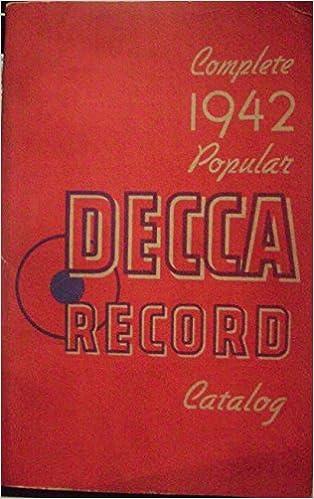 Dating Decca Recordsveel vis dating site Customer servicetelefoon nummer