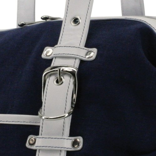 Tool Bag Linen (Navy/White) by Crescent Moon (Image #3)