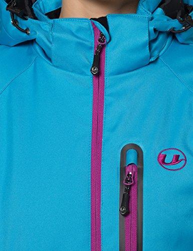 Ultrasport  Softshell Veste Serfaus, pour  Femme,Bleu Vif / Vin Violet, S, 10416