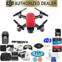 DJI Spark Quadcopter (Lava Red) Beginner Accessory Starter Basic Bundle Package Deal