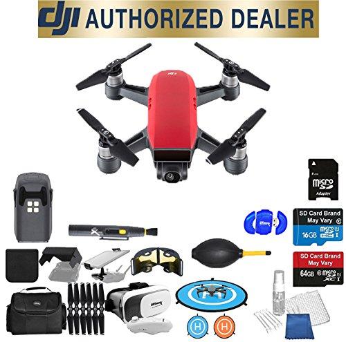Basic Gps Package (DJI Spark Quadcopter (Lava Red) Beginner Accessory Starter Basic Bundle Package Deal)