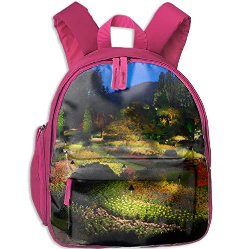 (Butchart Gardens Print Durable Kids Back to School Backpack Canvas Book Bag)