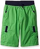 U.S. Polo Assn. Big Boys' Short, Ribbed Waistband Cargo Classic Green, 8