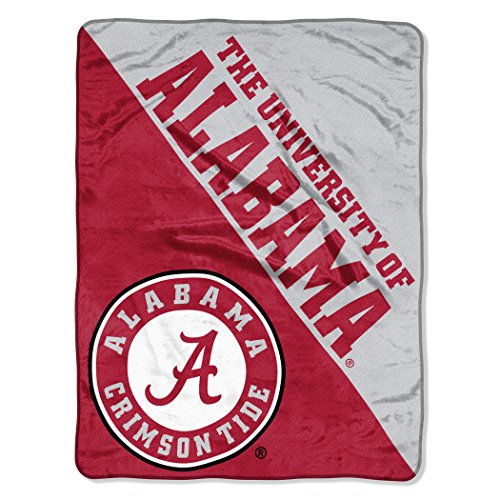 The Northwest Company Officially Licensed NCAA Alabama Crimson Tide Halftone Micro Raschel Throw Blanket, 46