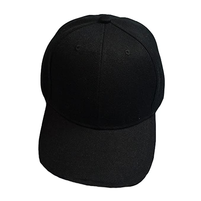 b67943bfc Baseball Cap Blank Solid Color Velcro Closure Adjustable Plain Hat ...