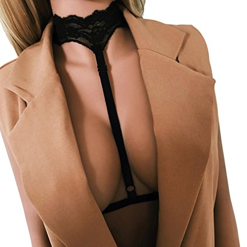 Nikuya Sexy Women Ladies Hollow Strappy Bra Cage Crop Top Bustier Tops (S)