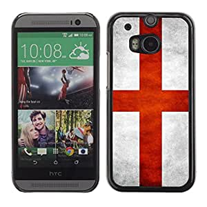 All Phone Most Case / Hard PC Metal piece Shell Slim Cover Protective Case for HTC One M8 National Flag Nation Country England