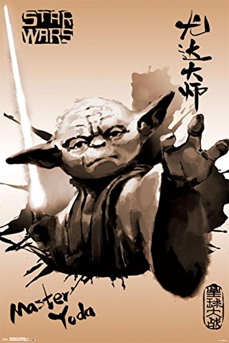 Trends International Star Wars Yoda Painting Collector's Edition Wall Poster 24