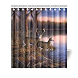 Best River's Edge Homes Curtains - InterestPrint Wildlife Animal Home Decor, Rustic River Edge Review