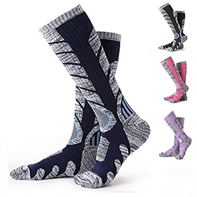Ski Socks YooNow Cotton Mid-Calf Winter Socks Antiskid Wicking Lightweight Snow Socks Warm Breathable Stockings Suitable for for Skiing Snowboarding Hiking and Climbing