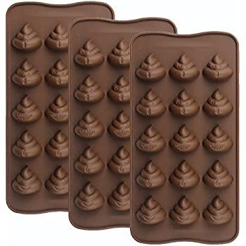 Amazon Com Emoji Chocolate Mold Poop Shaped Candy Making