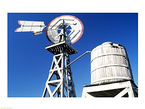 - USA, Texas, San Antonio, Tower of The Americas, Low Angle of Old Windmill Art Print, 40 x 30 inches
