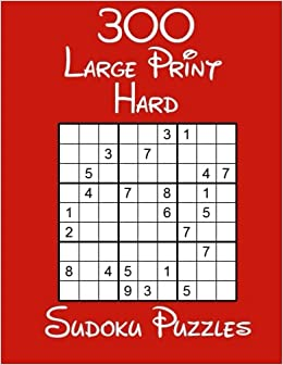photo relating to Sudoku Printable Hard referred to as 300 Weighty Print Difficult Sudoku Puzzles: C J Wooden: 9781548711573