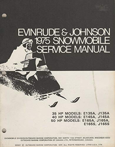 Evinrude Johnson Snowmobile Trainers4Me