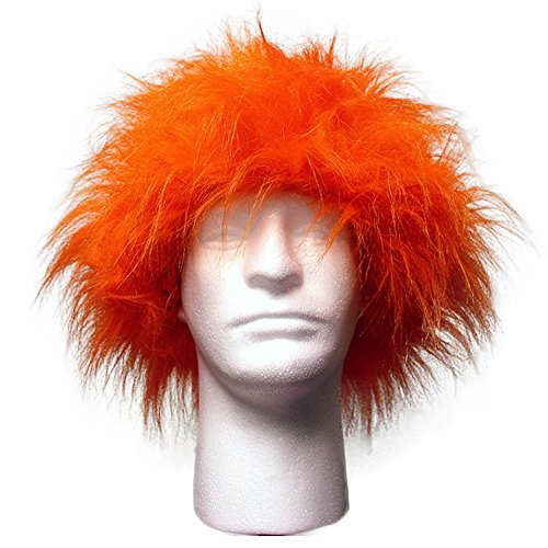 Sports Novelties Wig, Orange -