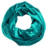 Infinity Scarf Velvet Soft Plush Cowl Loop Many Colors Warm Fall Winter Accessory Made in the USA
