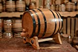 10 Liter or 2.65 Gallons | American White Oak Aging Barrel | Age your own Tequila, Whiskey, Rum, Bourbon, Wine