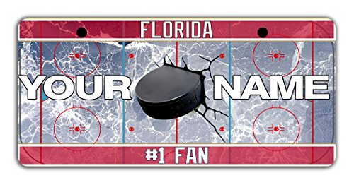 BleuReign(TM) Personalized Custom Name Hockey Team Florida Bicycle Bike Moped Golf Cart 3