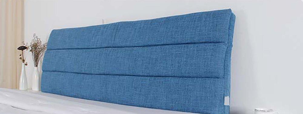 LQQGXL,Cushion, Cloth Bedside Cushion Solid Wood Bedside Cover Sets Bedside Soft Case Sponge Big Cushions Backrest Pad Cover Detachable Washable Back Cushion ( Color : B ) by LQQGXL (Image #3)