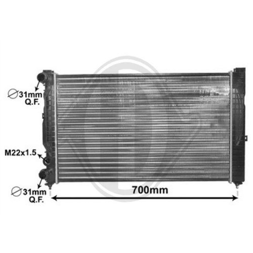 Diederichs DCM1454 Radiator, radiator: