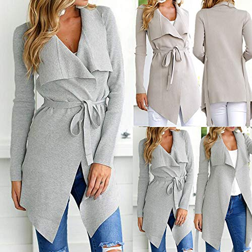 SMALLE ◕‿◕ Clearance,Women Ladies Long Sleeve Cardigan Coat Suit Top Open Front Jacket Outwear by SMALLE (Image #6)