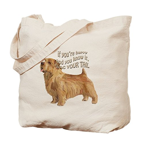 CafePress diseño de Norfolk Terrier–Gamuza de bolsa de lona bolsa, bolsa de la compra Small caqui