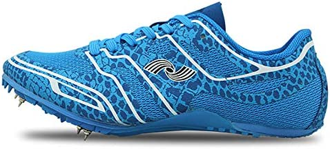ZLYZS Zapatillas De Atletismo Transpirables De Malla Unisex Spike Running Zapatillas Deportivas Profesionales,Azul,EU42: Amazon.es: Deportes y aire libre
