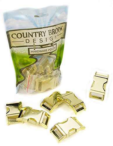 10 - Country Brook Design 1 Inch Contoured Brass Plated Side Release Buckles (Contoured Side Release Buckle 3 4 compare prices)