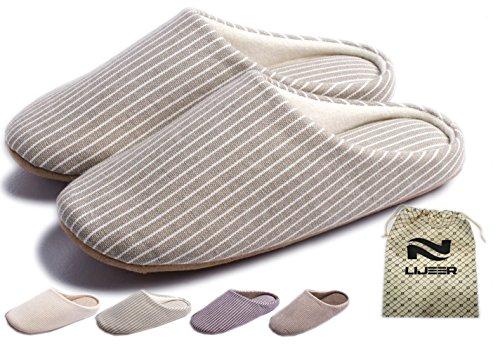 Indoor Slippers Soft Home Autumn Winter Memory Foam Wood Floor Couple Men Women Warm