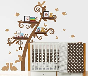 Book Shelf Tree Wall Decal
