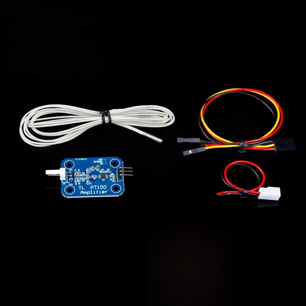3D Printer PT100 Sensor Upgrade kit- PT100 Amplifier Board + PT100 Temperature Sensor + Cables for V6 HOTEND Volcano Heating Block