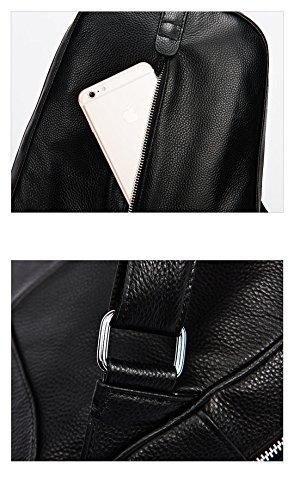 10 CLS 100% Echtes Weiches echtes Leder Frauen Rucksack weiblichen populären Stil Damen Laptop-tasche Mädchen Notebook s Gelb Beige i9lHOi