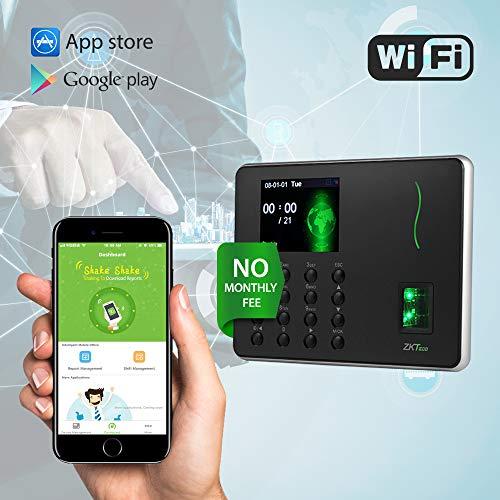 - ZKTeco Fingerprint Attendance Machine Biometric Time Clock Employee Checking in Attendance Clock