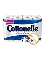 Cottonelle CleanCare Family Roll Toilet Paper, Bath Tissue, 3...