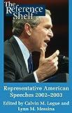 Representative American Speeches 2002-2003, , 0824210247