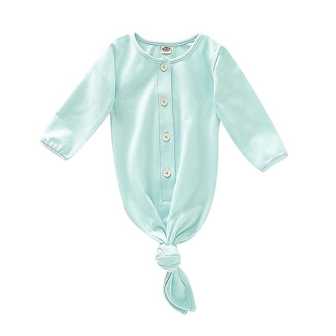 Amazon.com: Bebé recién nacido niño niña ropa de dormir bebé ...