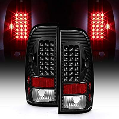ACANII - For Black 1997-2003 Ford F150 99-07 F250 F350 SuperDuty LED Tail Lights Brake Lamps