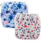 ALVABABY 2 PCS One Size Reuseable Washable...