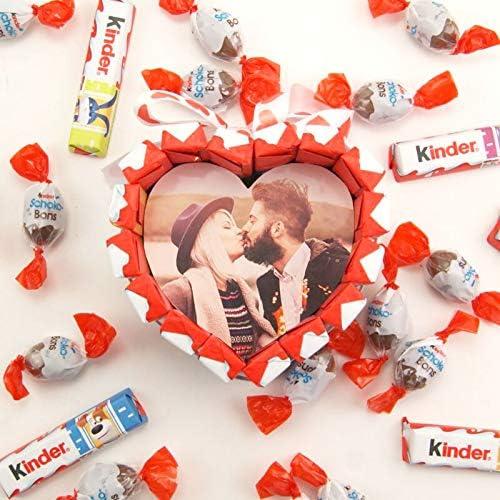 Corazón Kinder personalizado con foto Kinder Schoko Bons Kinder ...