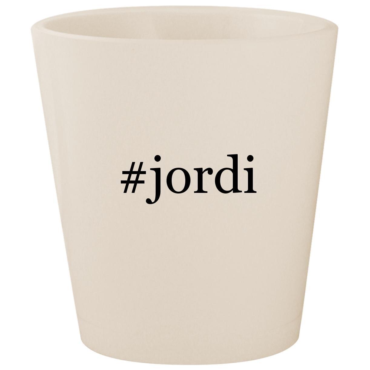 # Jordi – ホワイトハッシュタグセラミック1.5 Ozショットガラス B074XR43Z1