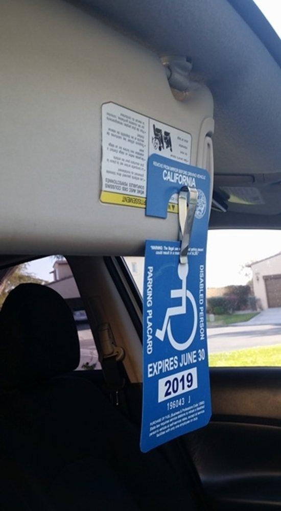 & Amazon.com: Handicap Placard Visor Holder Clip: Car Electronics