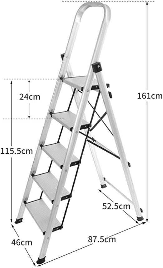 Escalera Multifuncional, Grueso Plegable De Aluminio Escalera ...