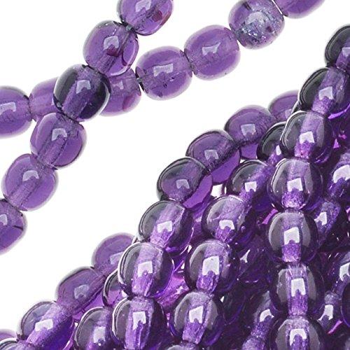 4mm Beads Round Druk (Jablonex Czech Glass Druk Round 4mm Tanzanite Druks (100 Beads))
