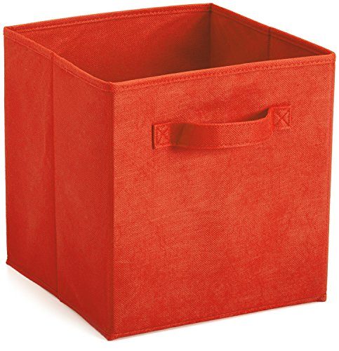 Practical Foldable Fabric Cube Storage Bins, storage containers Fabric Drawers,1 pack,red