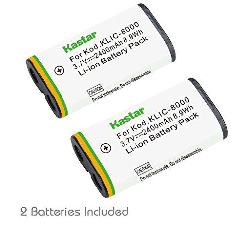 - Kastar Battery (2-Pack) for Kodak KLIC-8000, K8000 work with Kodak Z1012 IS, Z1015 IS, Z1085 IS, Z1485 IS, Z612, Z712 IS, Z812 IS, Z8612 IS Cameras